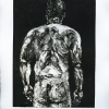 """Nude Male (Back)"" Monotype 2018"